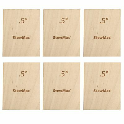 StewMac Neck Shims for Guitar, Blank, 0.50 degree - 6-pack
