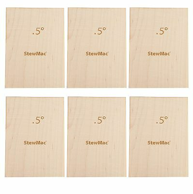 StewMac Neck Shims for Bass, Blank, 0.50 degree - 6-pack