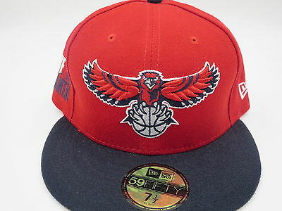 detailed look 07691 61ad1 Atlanta Hawks Red Throwback New Era 59Fifty NBA Custom Fitted Hat Cap 7 1 4