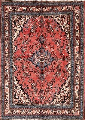 "Great Deal Floral 7x10 Hamedan Persian Area Rug Oriental Carpet 9' 11"" x 7' 2"""