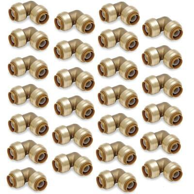 "Push-Fit 3/4"" Inch Push to Connect Fitting LF Elbow Bag of 100 pcs / Brass / 0.7"