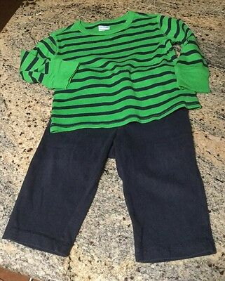 Baby Gap Boys 2 Piece Outfit Knit Pants And Long Sleeve Top Size 12-18 Months