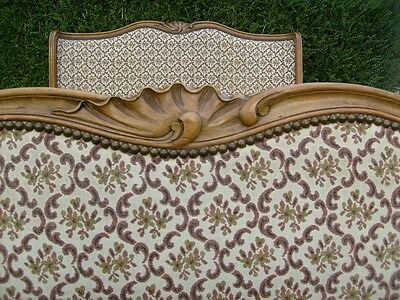 Vintage Upholstered French Full Corbeille Double Bed...rare!