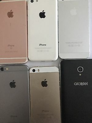 iCL0UD-L0CK iPhone 2x 6s 16gb  2x iPhone 5s 16gb 1 iPhone 5c Alcatel 5056N Lot
