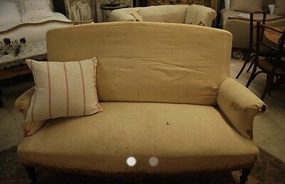 Stripped Back French Antique Sofa