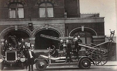 London - WALTHAMSTOW,  Fire Brigade & Fire Engines outside Fire Station - RP