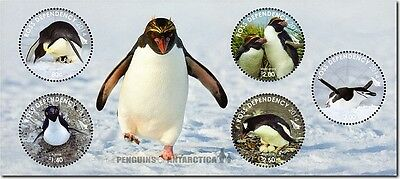2014  Ross Dependency Unmounted Mint  Penguins Of Antartica  Minisheet Sg 150