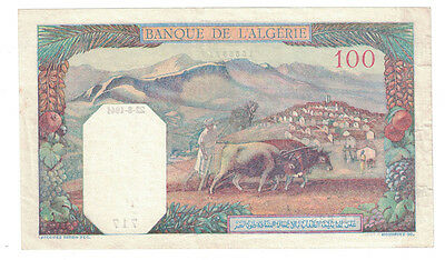 Algeria - 22.8.1941 100 Francs Banknote (P-85) - Nice Note!