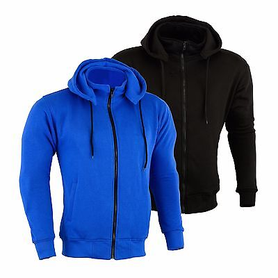 Motorbike Motorcycle CE Protection Armour Made With Kevlar Lined Fleece Hoodie