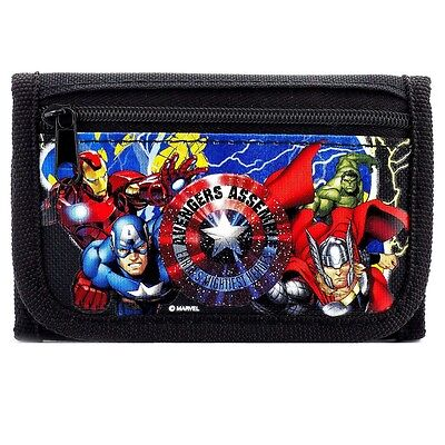 Brand New Marvel Avengers Wallet Tri Fold Kids NWT- Black
