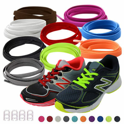 1 Pair Elastic No-Tie GYM Shoe Laces With 4 Buckles For Running Sports Shoes  US