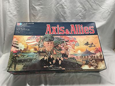 "Axis & Allies 100% COMPLETE! 1984 ""Spring 1942"" MB GAMEMASTER Board Game MINT!"