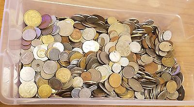 25 Pounds Of Bulk Mixed World Foreign Coins