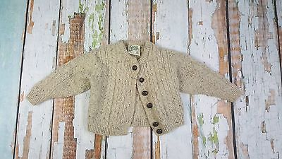 Carraig Donn size 2-3 yeas medium cardigan sweater wool kids boys girls