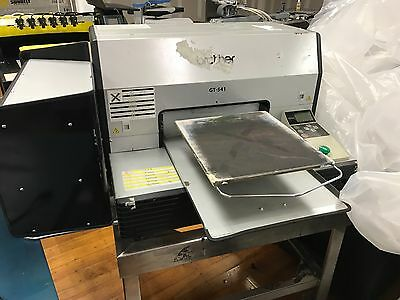 Brother 541 printer with 16x20 heat press and printer stand