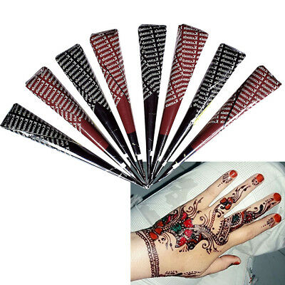 Mehandi Tattoo Stencil Henna Paste Cone Body Painting Red Black Temporary Makeup