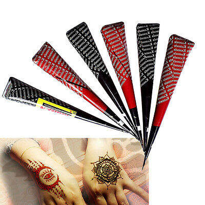 Cone Tattoo Stencil Henna Paste Drawing Indian Pattern Tool Temporary Body Paint