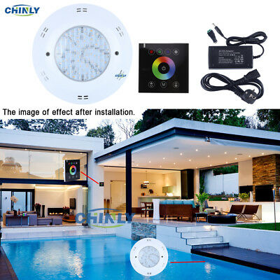 DC12V 16W RGBW Wall Hang LED Pool Lights Underwater Lights+Touch Controller Kit