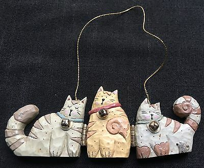 VTG Small Standing or Hanging 3 Cat Wooden Plaque *Great Condition*