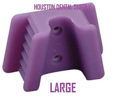 2 Dental Mouth Prop Soft Silicone Biteblock Tattoo Piercing LARGE PURPLE Bite