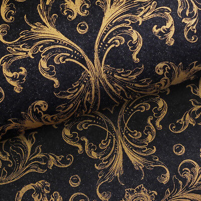 NEW Vandoros Opulence Black & Gold Wrapping Paper