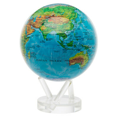 NEW Mova Large Blue Relief Spinning Globe