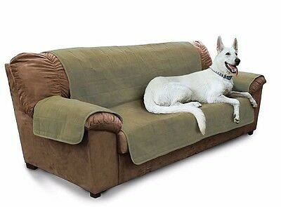 Furhaven PET FURNITURE COVER SOFA Dog Cat Quilted Adjustable, 297x178cm- GREEN