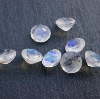 Natural Rainbow Moonstone AAA Round Faceted (1.5mm - 8mm) Loose Gemstones