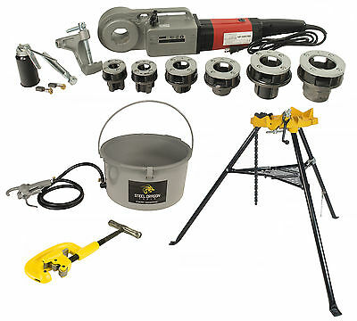 Steel Dragon Tools® 600 Pro Threader with 418 Oiler 460 Chain Vise &  2A Cutter