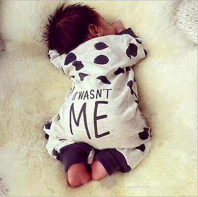 Newborn Toddler Kids Baby Boy Girls Warm Romper Jumpsuit Bodysuit Clothes Outfit