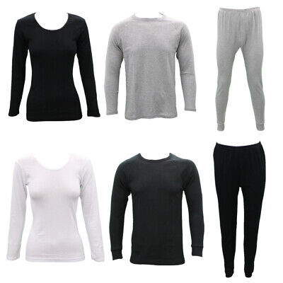 Men's Women's Cotton Long Sleeve Thermal Top Pants Leggings Long Johns Underwear