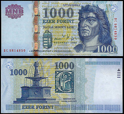 HUNGARY 1000 FORINT (P195a) 2005 UNC