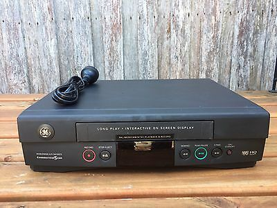 Serviced GE VGE-805 Video Recorder Player No REMOTE VHS Player VCR