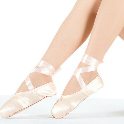 AU Stock Girls Adults Porfessional Satin Ballet Dance Toe Pointe Shoes