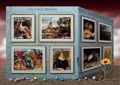 Z08 IMPERFORATED SRL16617a SIERRA LEONE 2016 Peter Paul Rubens MNH