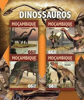 Z08 IMPERFORATED MOZ16116a MOZAMBIQUE 2016 Dinosaurs MNH