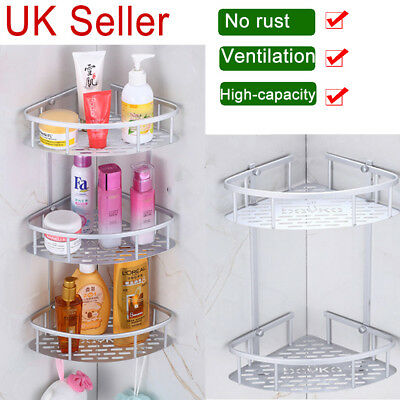 2/3/4 Tier Bathroom Corner Shower Shelf Rack Organiser Bath Accessory Sets Plant