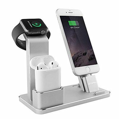 Apple Watch Stand Silver Holder Dock New Charging Station Aluminum Nightstand