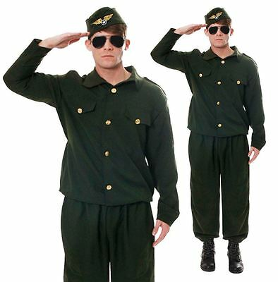 Men Army Soldier Combat Adults Cadet Uniform Military Stag Do Outfit Fancy Dress