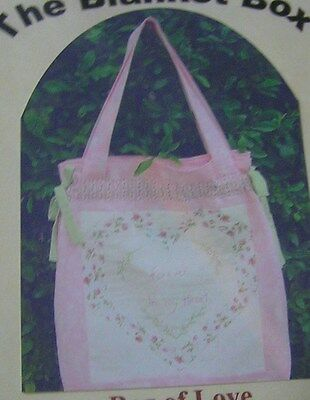Bag Of Love Patchwork Quilt Sewing Pattern Uncut Embroider Big Tote Craft