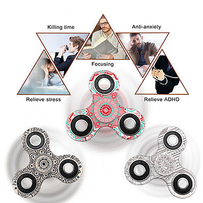 Camouflage 3D Floral Spinner Hand Fidget Desk Toy Ultimate Bearing Anti Stress