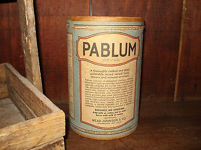 Vintage Pablum Cardboard Container - Old Advertising - Good Condition