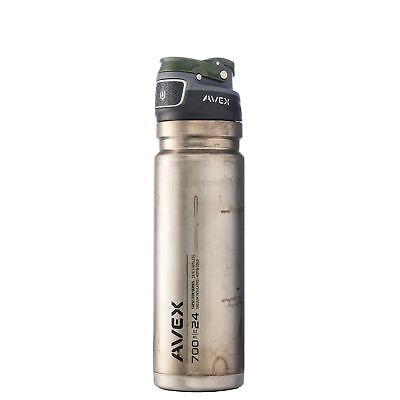 Avex FreeFlow Autoseal Stainless Steel Water Bottle 24oz Unfinished Stainless