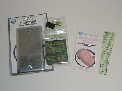 Magnetic Electrical Utility Plate Devious Geocache Container FREE SHIPPING!