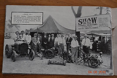 RARE Shaw Garden Tractor Catalog No 10 Titled Scenes Of Action Antique Advertisi
