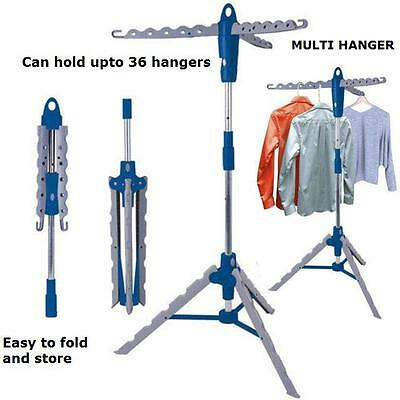 Multi Hanger Airer Storage Rack Clothes Holder Hook Tree Stand Metal Portable