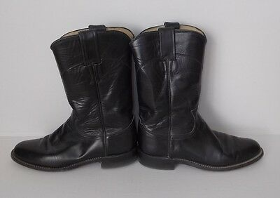 Justin Ladies/Juniors Boots-Ropers-Black-Size Marked 5-1/2 B-Very Good Condition