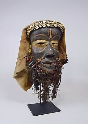 A Very Fine Old Dan African Mask With Headdress