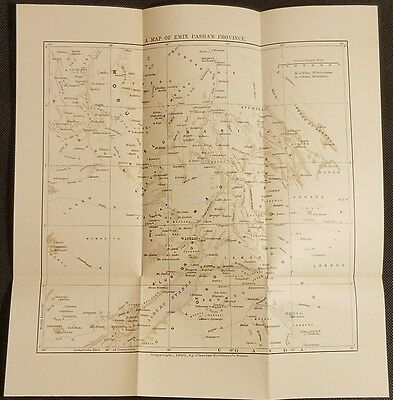 A Map of Emin Pasha's Province - Uganda - 1890 Charles Scribner's Sons