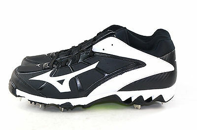 Mizuno Women's 9 Spike Swift 4 Fast Pitch Metal Softball Cleat Black White 11 M